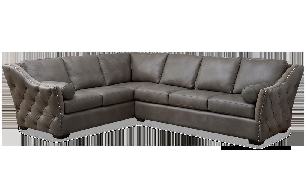 Omnia Leather Brisbane Sectional - Leather Furniture in Hampton Falls NH