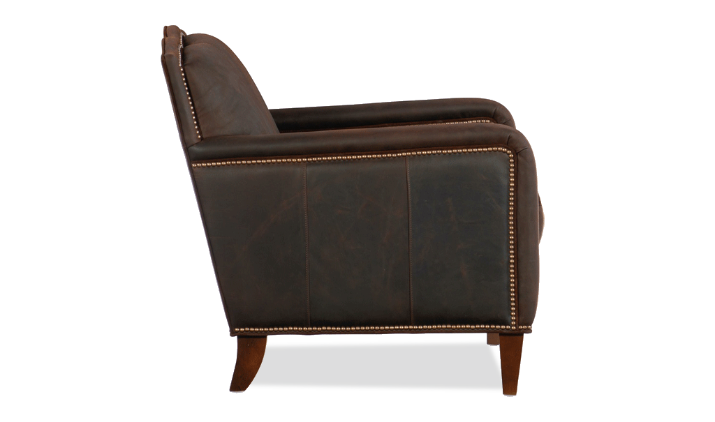 Bradington Young Griffin Club Chair - Leather Furniture in Hampton Falls NH