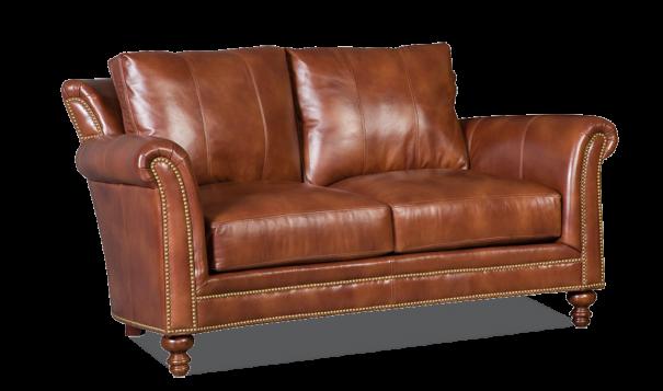 Bradington Young Richardson Loveseat - Leather Furniture in Hampton Falls NH