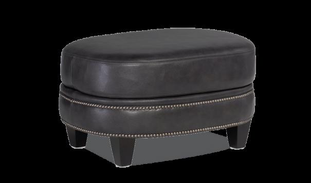 Bradington Young Richardson Ottoman - Leather Furniture in Hampton Falls NH