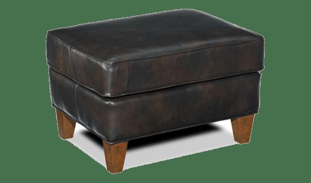 Bradington Young Yorba Ottoman - Leather Furniture in Hampton Falls NH