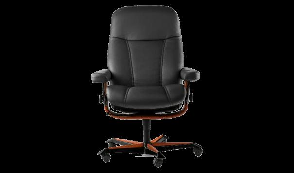 Ekornes Stressless Consul Office Chair - Leather Furniture in Hampton Falls NH